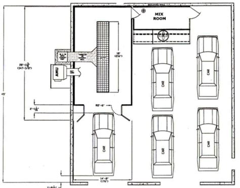 auto workshop layout equipments shop layout