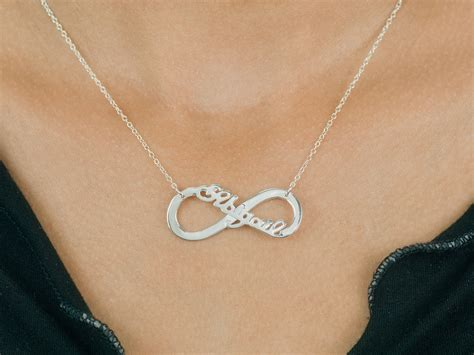 infinity with name necklace