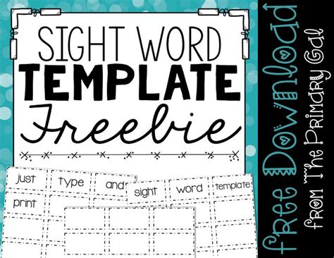 Sight Word Template Word Cards by 172 Best Images About Sight Words Word Wall On