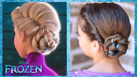cute girl hairstyles elsa braid frozen inspired elsas coronation updo a