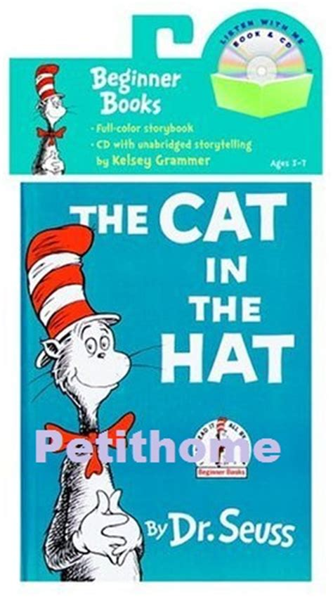 the cat in the hat in english and english original the cat in the hat cat in the hat dr seuss kids picture story books cd in books