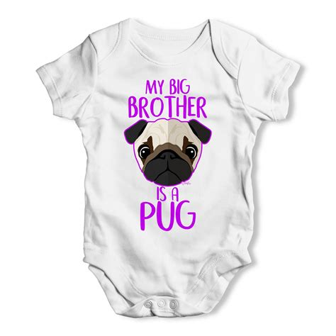pug baby grow my big is a pug baby grow available in white pink blue i pugs