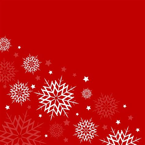 red background with white snowflakes vector free download