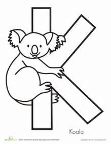 color that starts with the letter k k is for koala worksheets activities and preschool