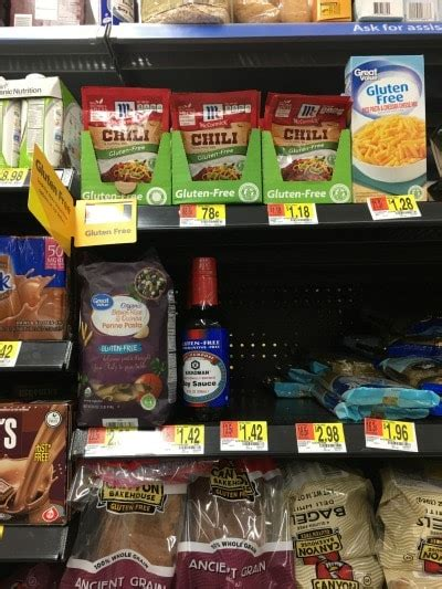 gluten free section at walmart the ultimate walmart gluten free shopping guide fearless