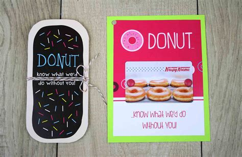Dunkin Donuts E Gift Card - free printable donut cut out gift card holder gcg