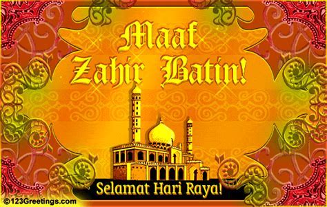 Maaf Zahir Batin! Free Hari Raya eCards, Greeting Cards