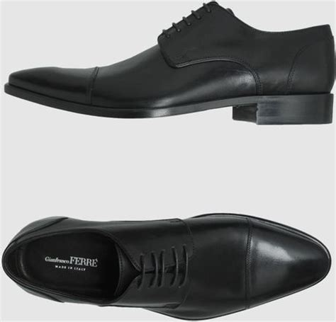 gianfranco ferr 233 laced shoes in black for lyst