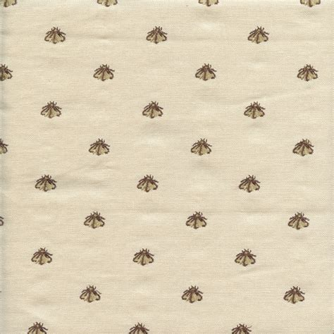 bee upholstery fabric cemb 1229 greige chocolate brown cotton canvas bee