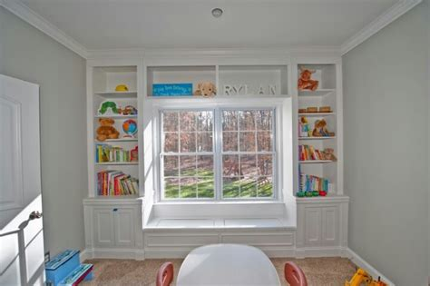 bay window bookshelf want homes architecture