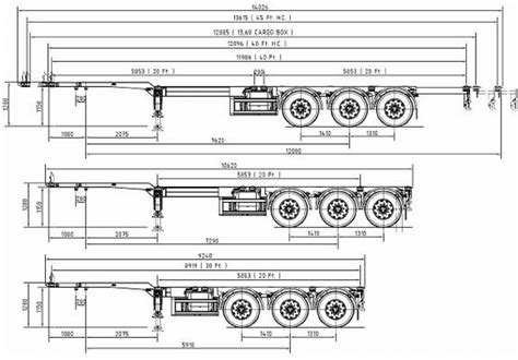 container chassis and dimensions scientific diagram