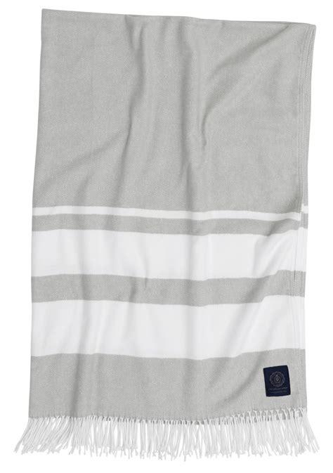 wohndecke grau baumwolle grand design baumwoll wohndecke pcomo stripe grau 130x180