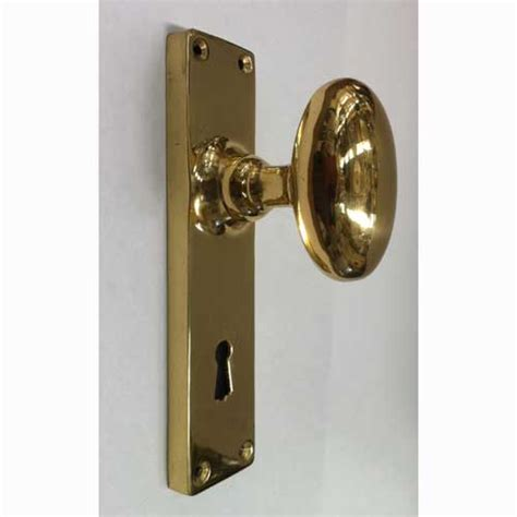 Door Knob Outlet by Oval Door Handle Polished Brass Narrow Backplate