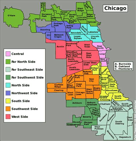 chicago map in r neighborhoods of chicago 780x811 mapporn