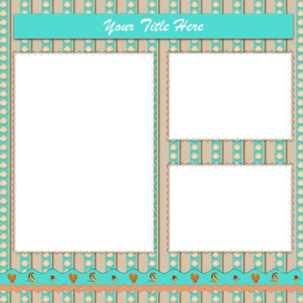 7 Best Images Of Printable Scrapbook Cutouts Templates Free Printable Scrapbook Layout Scrapbook Free Templates