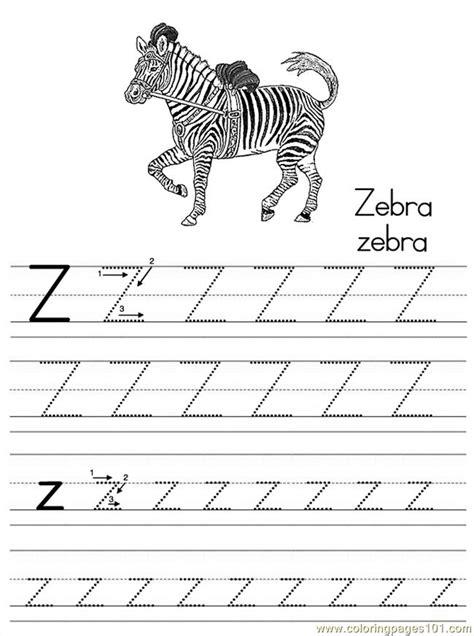 Z Zebra Coloring Page by Alphabet Abc Letter Z Zebra Coloring Pages 7 Coloring