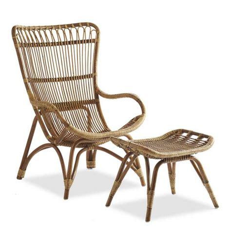 rattan chair and ottoman the gardenista 100 best rattan lounge chairs gardenista
