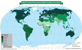 map of showing world map showing world s most environmentally friendly