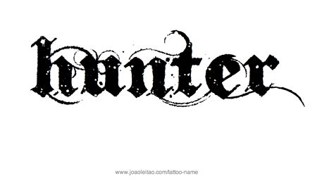 tattoo ideas for the name hunter hunter name tattoo designs