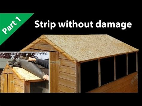 how to felt a shed roof part 1 roof felt prep