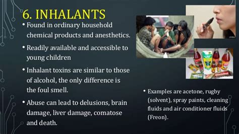 Harmful Household Products the six classifications of drugs of abuse grade 9 mapeh