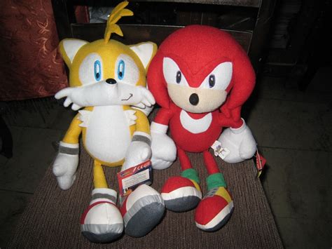 sonic plushies sonic x plushies knuckles and tails by tanlisette on