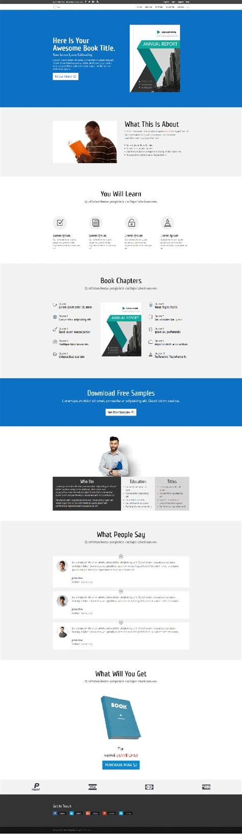 book layout sles book sales 1 page layout divi theme layouts