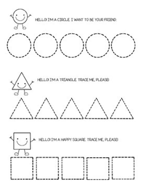 triangle pattern to trace tracing shapes circle square triangle and more
