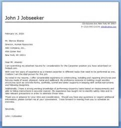 Carpenter Apprentice Cover Letter by Carpenter Cover Letter For Resume Car Pictures Car