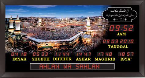 Jam Masjid Digital Ukuran Sedang Tq 10 Rmd Frame Minimalis jam penunjuk waktu sholat ukuran besar rmd rmk frame