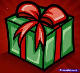 how to draw a christmas gift step by step christmas