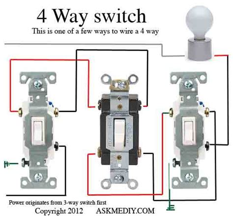 how to install a 4 way switch askmediy
