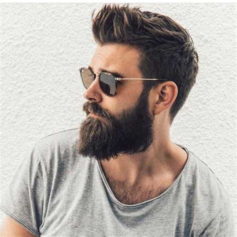 Beard And Hairstyles by Stylish Bearded Guys And Cool Hairstyles Mens Hairstyles
