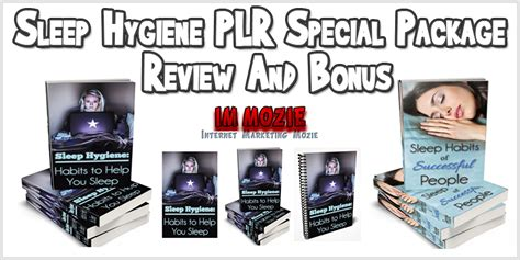 sleep hygiene plr special package review  bonus