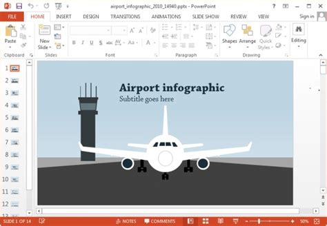 Animated Airport And Travel Powerpoint Templates Powerpoint Templates Airline Industry