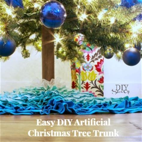 artificial christmas tree trunk cover in a minute easy diy tree trunk cover diy show diy decorating and