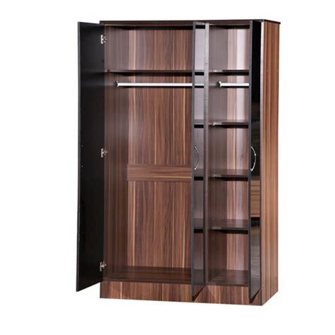 Black Gloss 3 Door Wardrobe by Alpha Black Gloss Walnut 3 Door Standard Wardrobe Ark Furniture