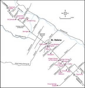 st helena california map map to wineries in st helena california