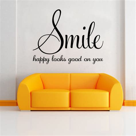 smile happy  good   inspirational quotes diy art