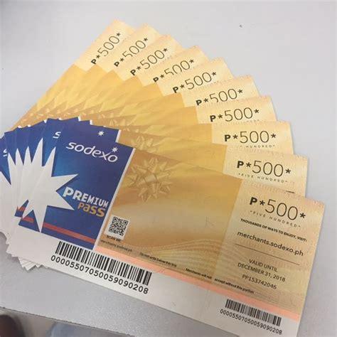 Sodexo Voucher 200 000 sodexo gc worth php5 000 tickets vouchers gift cards