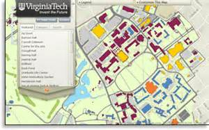 tech cus map pdf virginia tech enterprise gis research and development