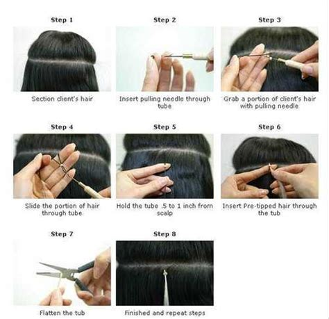 how to put in a hair extension the difference between cold fusion and fusion hair
