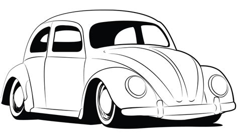 volkswagen drawing bug coloring pages vw vw bug drawings http