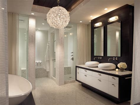 Contemporary Bathroom Chandeliers Inspirations Ideas Allen Saunders Design Projects Inspirations Ideas