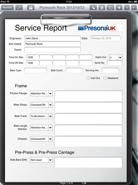 Field Service Report Template 28 Images Field Service Report Template Tm Sheet Sle Service Free Field Service Report Template