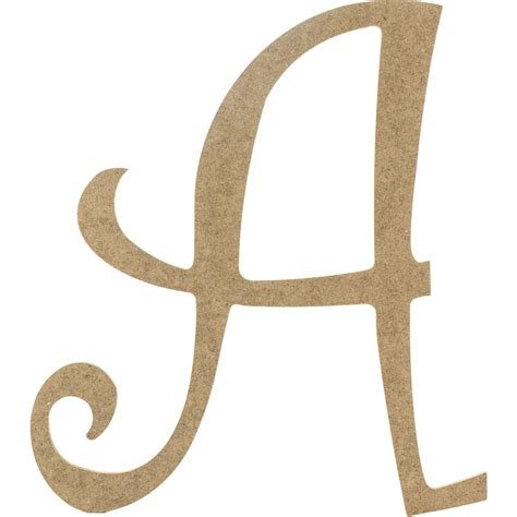 Decorative Wooden Letters by 14 Quot Decorative Wooden Curly Letter A Ab2145 Craftoutlet