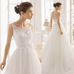 2015 fashionable simple cheap wedding dresses white lace bridal gowns