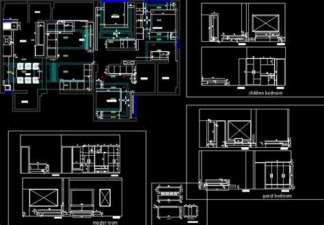 interior design  bedroom home dwg block  autocad
