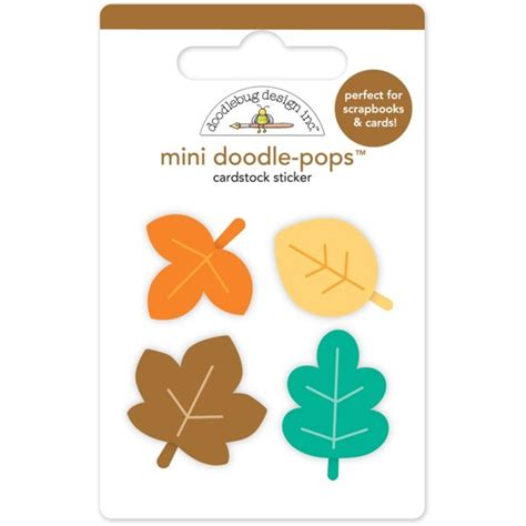 doodle pop doodlebug mini doodle pops autumn leaves