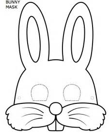 free coloring pages of easter mask